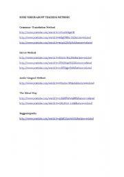 English Worksheets: Videos Teaching Methods