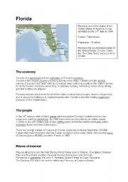 English Worksheets: Florida