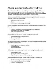 English Worksheet: Lord of the Flies Introduction