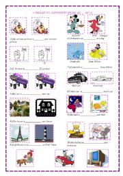 English Worksheets: similar to, different from, as...as