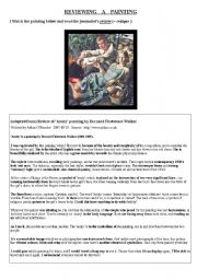English Worksheets: Reviewing a painting
