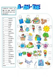 A - AN - THE - worksheet by Sandy