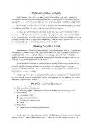 English Worksheets: my writing