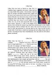 English Worksheets: Celine Dion Biography
