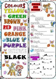 English Worksheets: COLOURS
