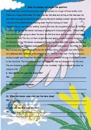 English Worksheets: The Ant and the Dove