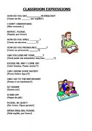 English Worksheets: USEFUL CLASSROOM EXPRESSIONS