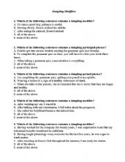 English teaching worksheets: Modifiers