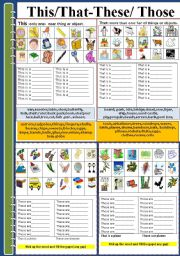 English Worksheets: This/that-these/those (part 2)