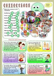 English Worksheet: collections