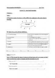 English Worksheets: learning languages