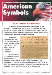 English Worksheets: American symbols