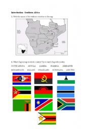 English Worksheets: Southern Africa