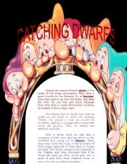 English Worksheets: CATCHING DWARFS