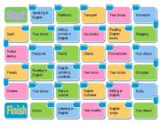English Worksheet: Dice Board Game: Modal Verbs