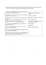 English Worksheets: Expressions with �in� and �out of�