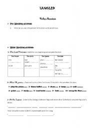 English Worksheet: Tangled - Video Guide