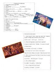 English Worksheet: Tangled Part 2