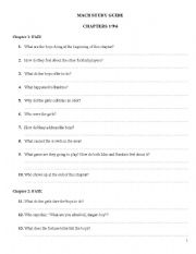 English Worksheets: MacB questions by Neil Arksey