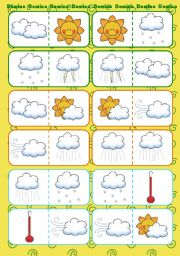 English Worksheets: Weather Domino