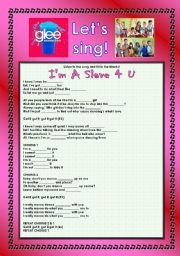 English Worksheet: > Glee Series: Season 2! > SONGS FOR CLASS! S02E02 *.* THREE SONGS *.* FULLY EDITABLE WITH KEY! *.* PART 1/2