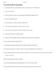 English Worksheets: Frost/Nixon Movie Questions
