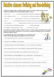 English Worksheet: Relative Clauses: Defining and Non-defining