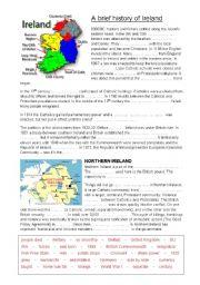 English Worksheet: A brief history of Ireland