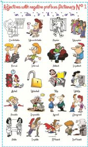 English Worksheet: Adjectives with negatives prefixes N� 1