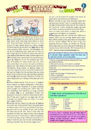 English Worksheets: reading & comprehension �What Does The Internet Know About You?�
