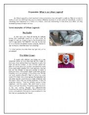English Worksheets: Urban legend