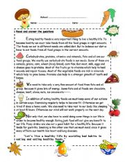 Printables Healthy Living Worksheets printables healthy living worksheets safarmediapps worksheet by xind2007 english living