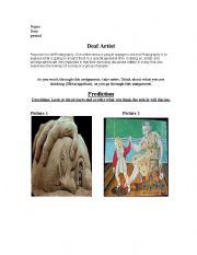 English Worksheets: Deaf Artist