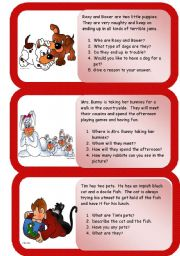 English Worksheets: animals - mini comprehensions