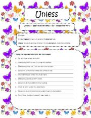 English Worksheet: Unless