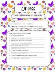 English Worksheet: Unless