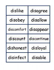 Grammar worksheets > Word formation > Prefixes > Prefixes dis word and ...