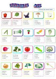 vegetable quiz