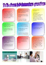 English Worksheet: Job Interview Questions