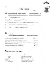 English Worksheets: the purse