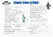 English Worksheet: Empire state of mind jay Z