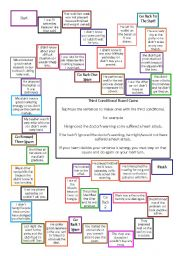 English Worksheet: Third Conditional Board Game