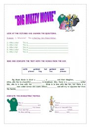 English Worksheet: MOVIE BIG MUZZY PART I