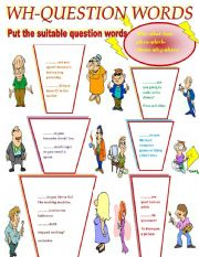 English Worksheets: WH-QUESTION WORDS.