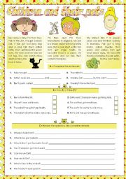 English Worksheet: Children and their pets