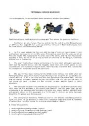 English Worksheets: Fictional Characters
