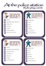 English Worksheet: Role play cards series: At the police station