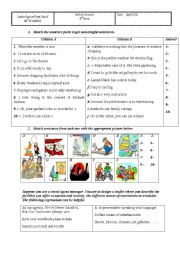 English Worksheet: Entertainment