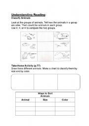 English Worksheets: Classifying Animals