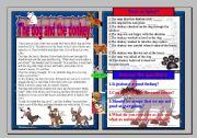English Worksheet: the dog and the donkey